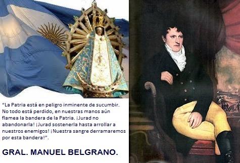 La Argentina nació con una cultura y una ética hispánica y católica, cristiana y mariana.