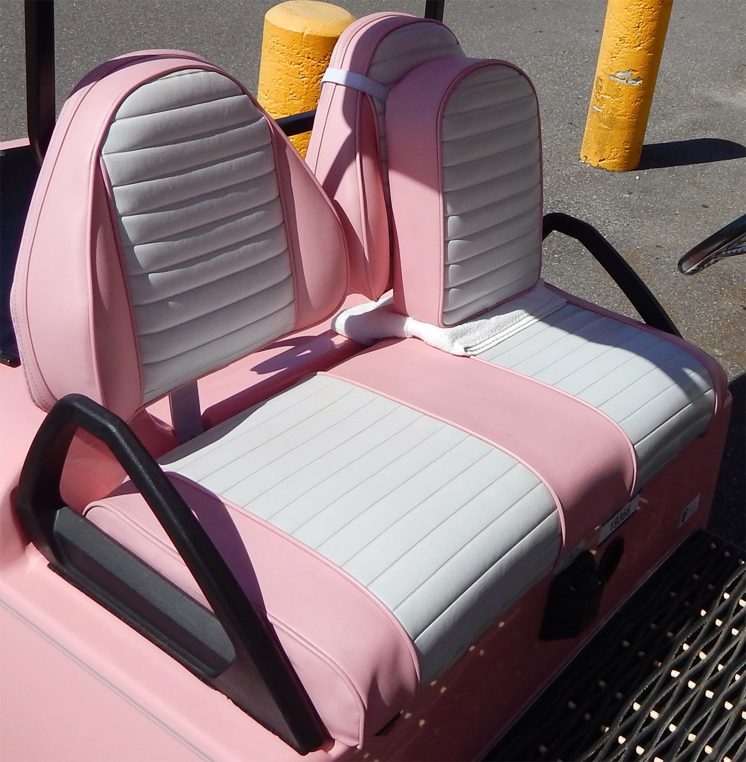 Pink Mary Kay BMW Club Car golf cart, Sun City Center Plaza Kay Golf Cart Html on