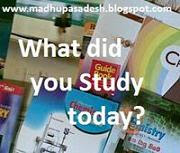 Write about what you study today,