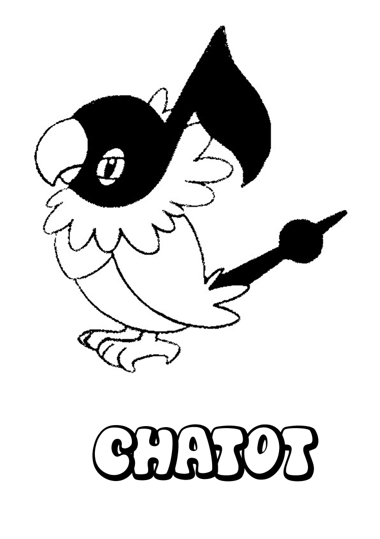 Coloring Pages Chatot