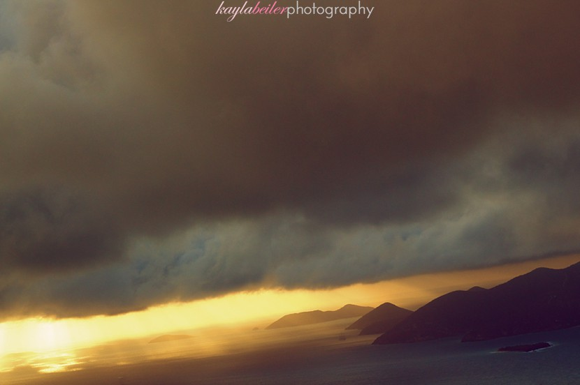sunset bvi photo