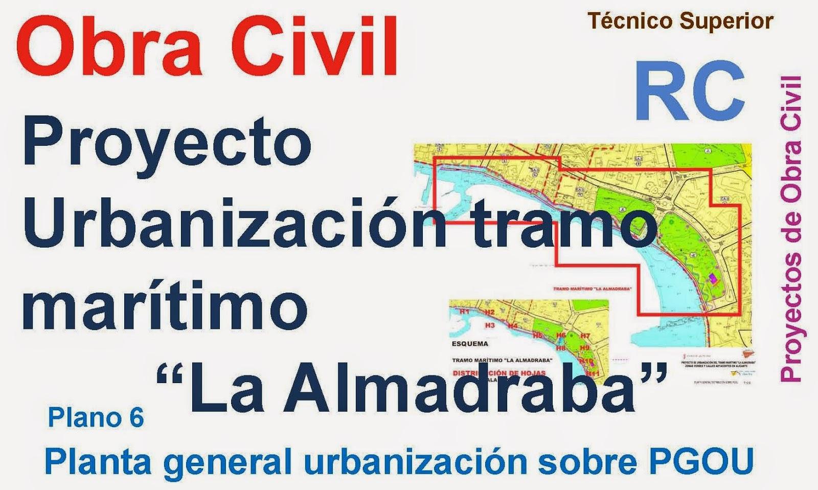 Rc i e s gran v a alicante pr ctica 11 planos 6 proyecto for Planos de obra civil