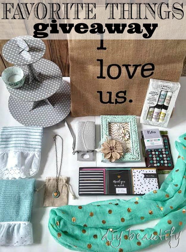 favorite things giveaway at DIY beautify blog