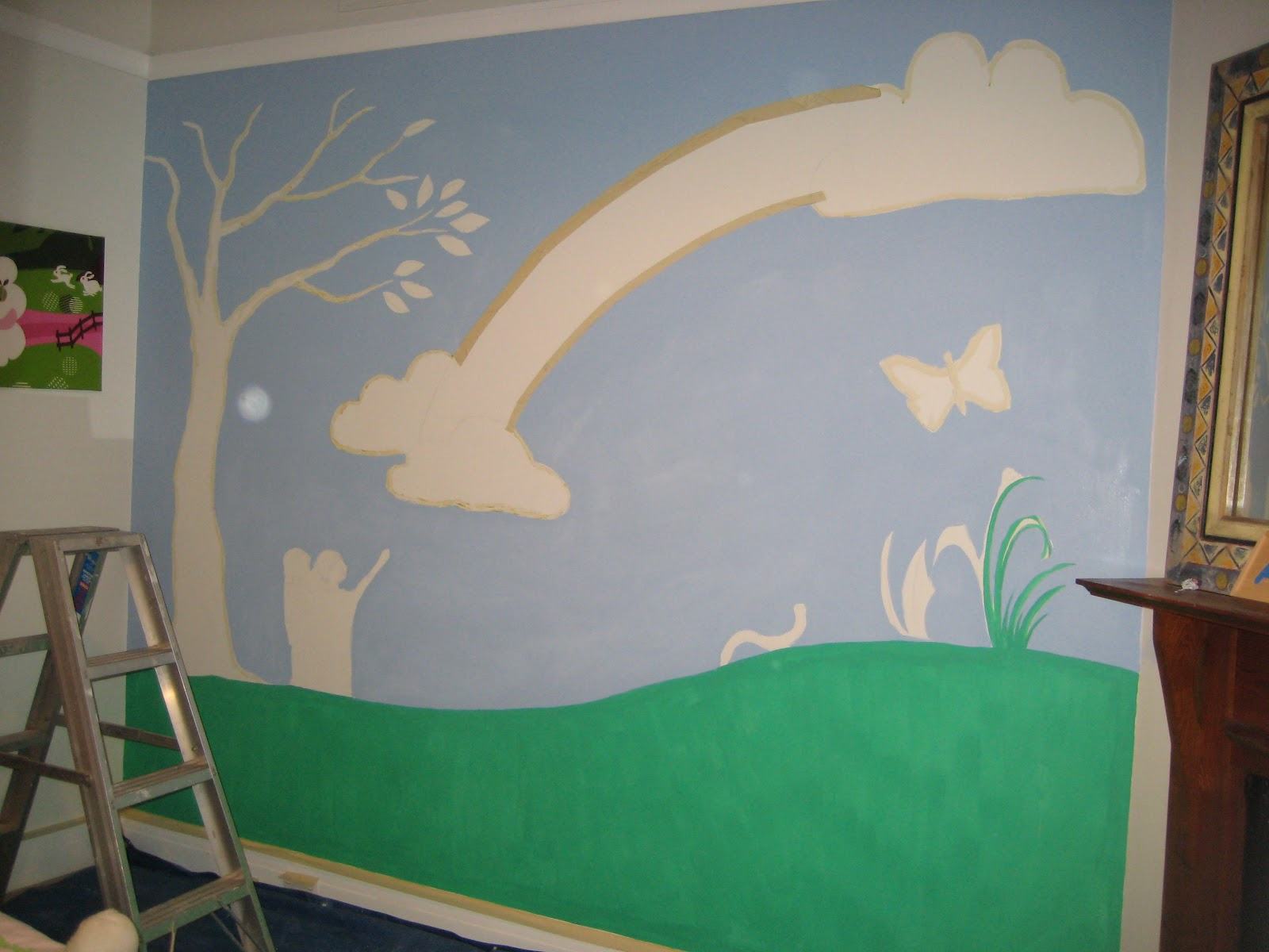 crafty little people our beautiful rainbow wall mural 1000 ideas about playroom mural on pinterest playrooms