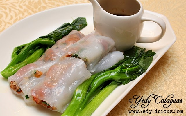 Crystal Jade Steamed Rice Roll with B.B.Q. Pork and Coriander