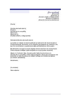 Carta de presentación para un puesto temporal