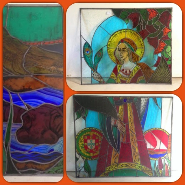 St Lucia Retreat Centre: the stained glass has arrived!