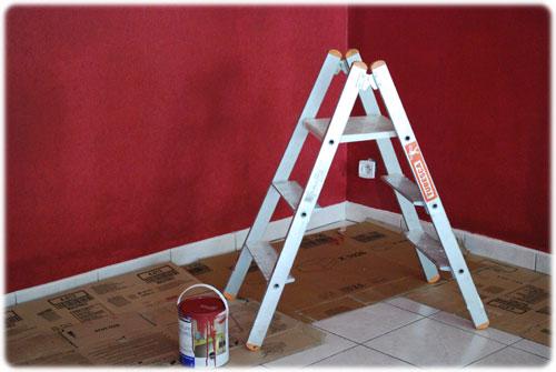 Sc ne de crime picturale le salon rouge velours louise grenadine blog slow lifestyle lyon - Mur rouge salon ...