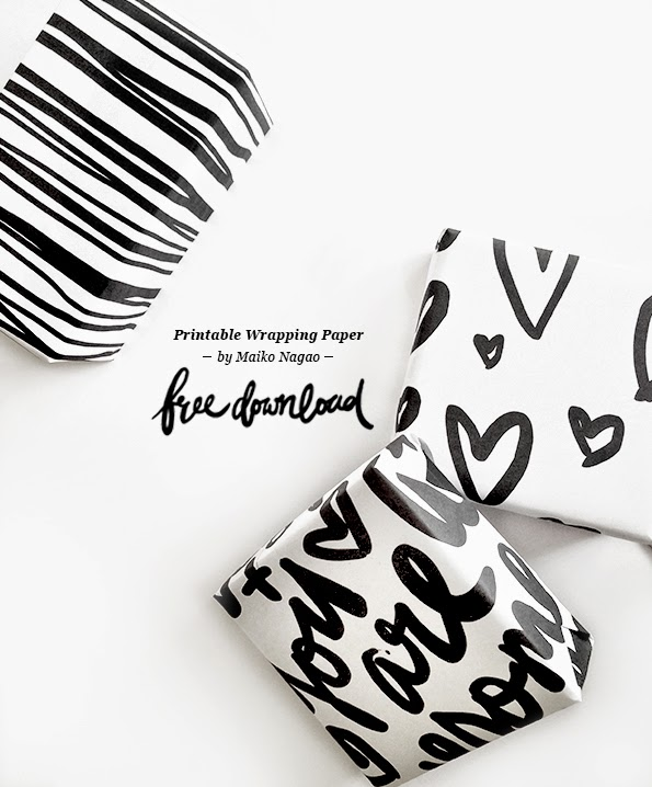 photo regarding Printable Wrap referred to as Maiko Nagao: Totally free printable wrapping paper - hand lettering