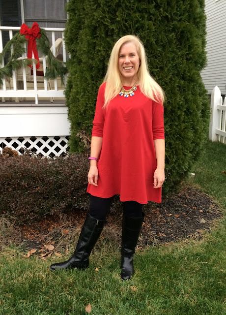 shein website review red half sleeve tshirt dress maryland preppy blogger