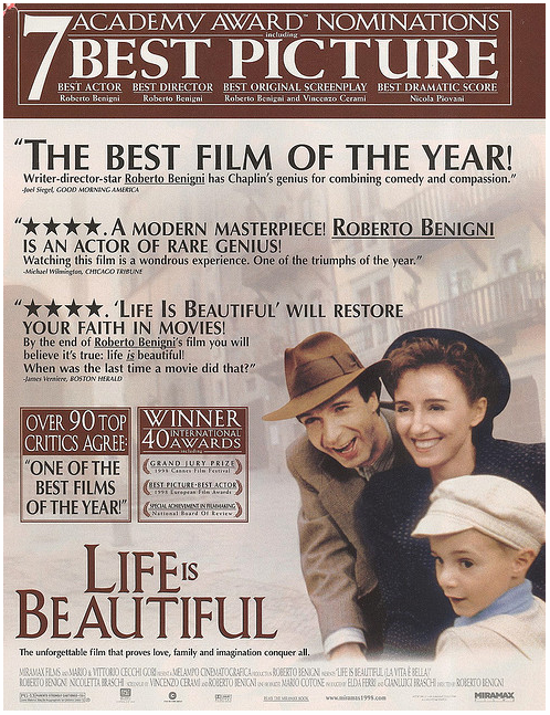 life is beautiful movie essay Free essay: even though the movie shows the concentration camps and the horrors that the jews experienced, it does it in a way that would be appealing to all.