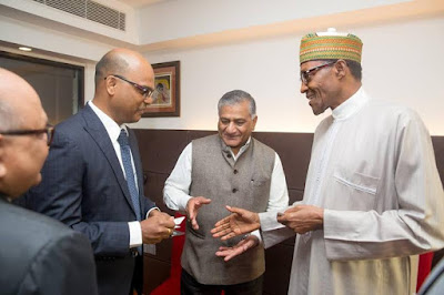 pic 6 Buhari meets up with old Indian coursemates of 1973