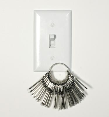 magnetic light switch cover, holding key ring with 20+ keys