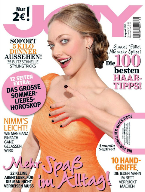 Actress, Singer, Model @ Amanda Seyfried - Joy Germany, August 2015
