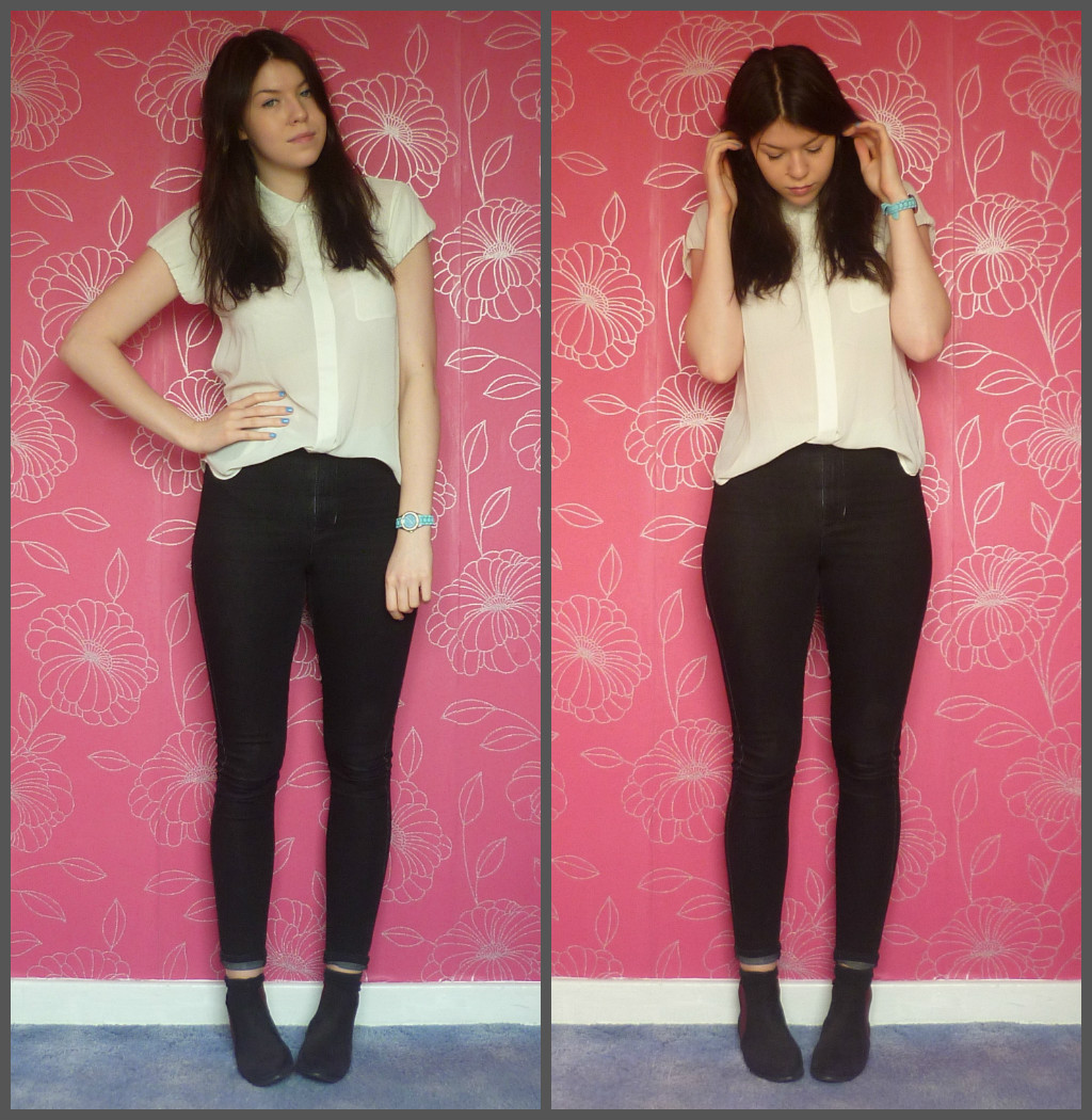 Laura loves that the style post | day to night black jeans white shirt