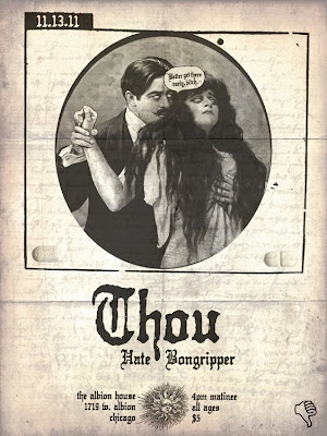 Thou tours with Black Tusk & MonstrO, plays 2 Chicago Shows on 11/13/11