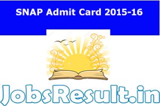 SNAP Admit Card 2015-16