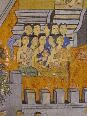 Ramayana mural, women, Silver Pagoda, Phnom Penh, Cambodia