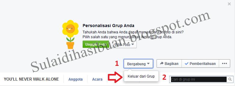 Cara Keluar Dari Group Facebook  Secara Permanen