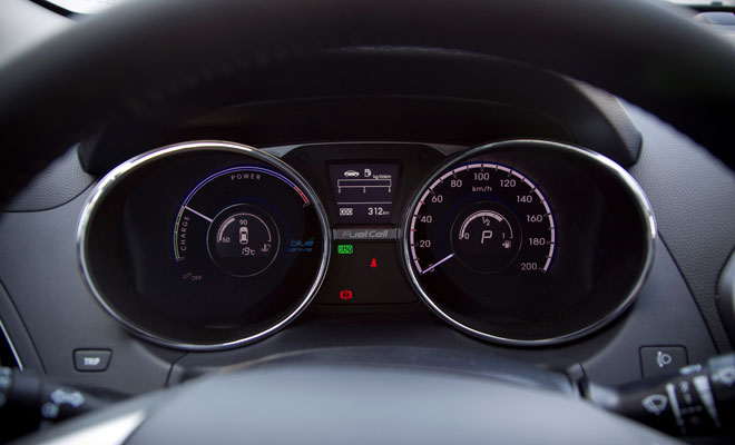 Hyundai ix35 Fuel Cell instrument panel