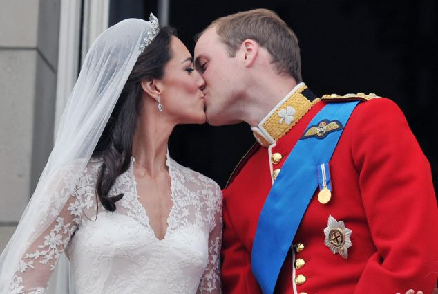 cat ommanney prince harry kiss. Double kiss: The newly-married