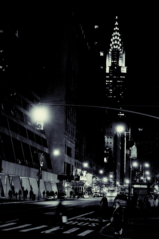 chrysler building at night black and white. the chrysler building at night black and white t