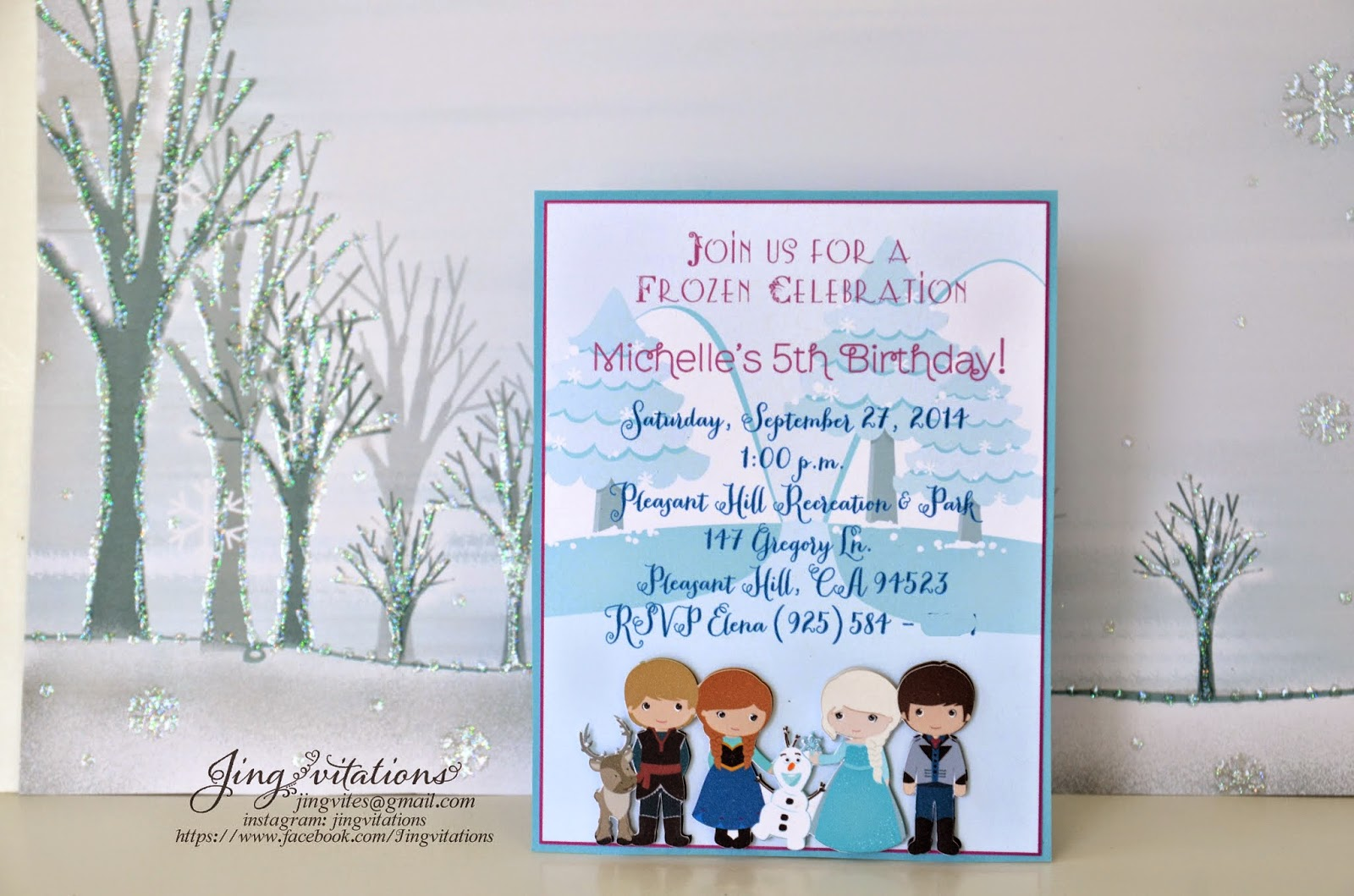 frozen 3D_invitations