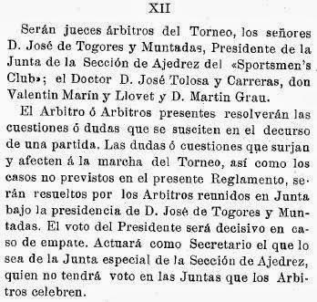 Recortes sobre Torneo de Ajedrez para el Campeonato de Cataluña disputado en 1905 en Barcelona (6)