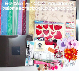 Sorteio no blog da Paloma Scrapbook