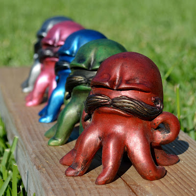 Gus The Grumpoctopus Resin Figure by Vanessa Ramirez
