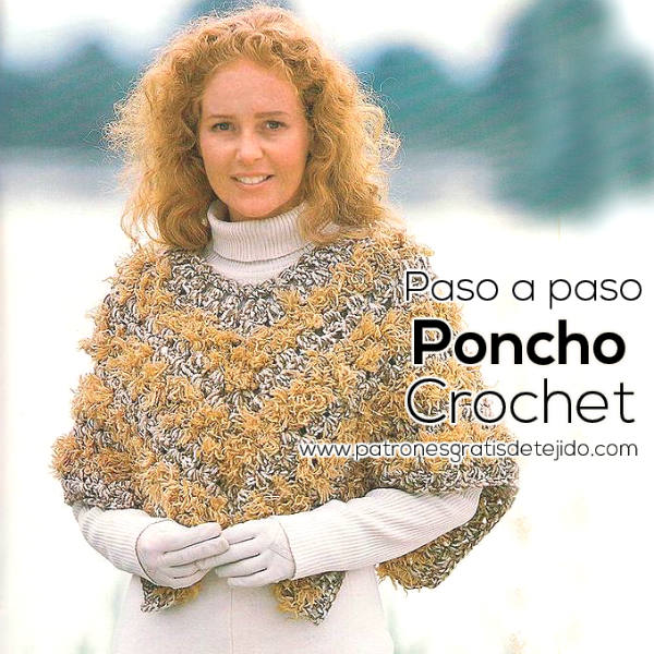 Poncho corto crochet tutorial