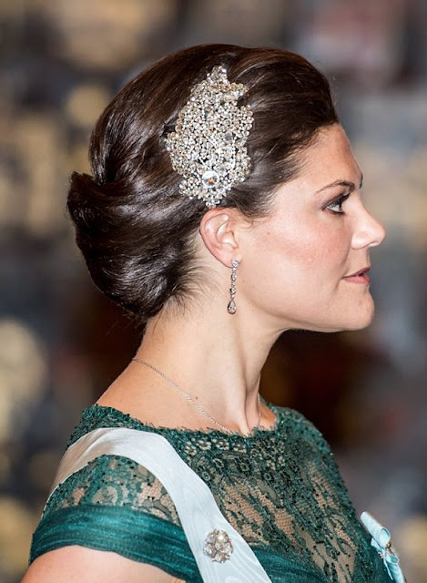 Princess Victoria PRONOVIAS Dress, JENNY PACKHAM Stellina Headdress