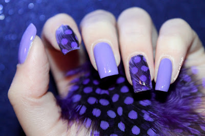 Purple Feather Nail Art
