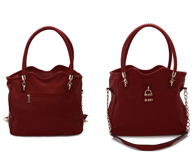Vanlaced avenue alfa brick red tote bag