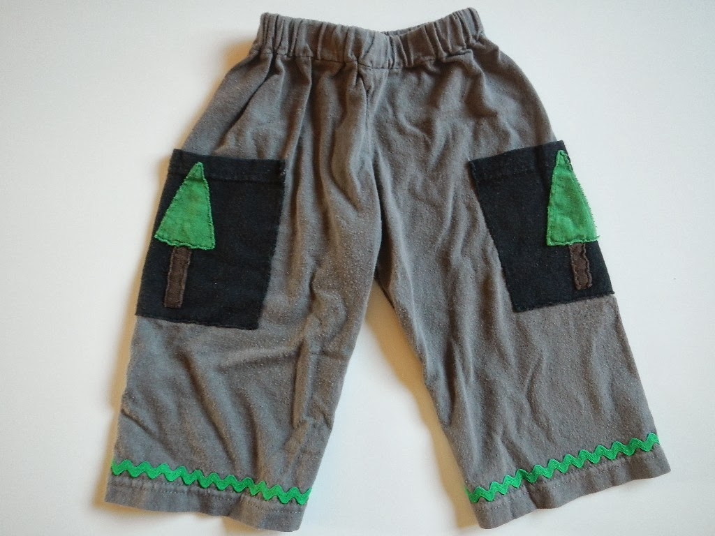 how to make a pair of baby toddler kids pants out of a tshirt