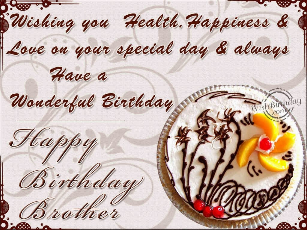 Birthday Wishes Elder Brother Birthday Wishes – Birthday Greetings to Brother