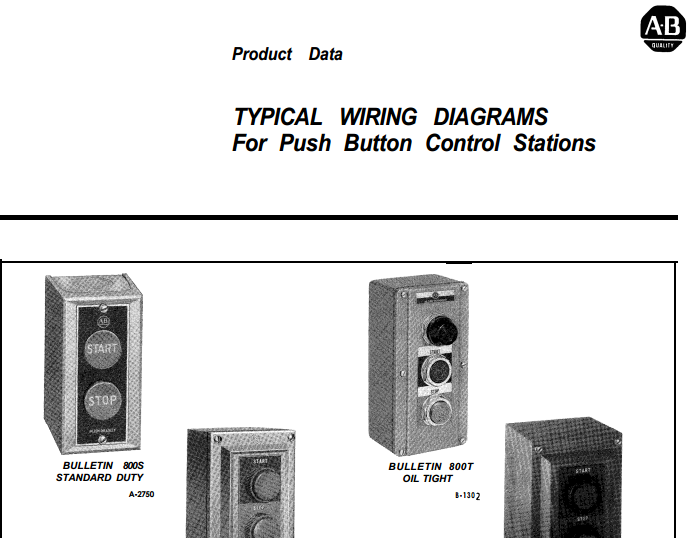 Electrical Enclosures  Typical Wiring Diagrams For Push
