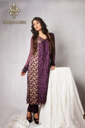 Embroidered Dress by Khadija Karim