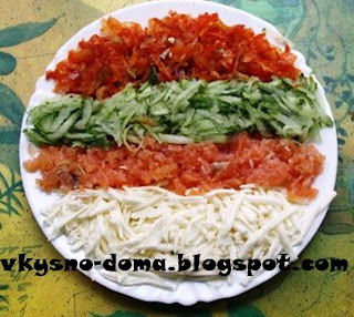 Простой,низкокалорийный,яркий салат