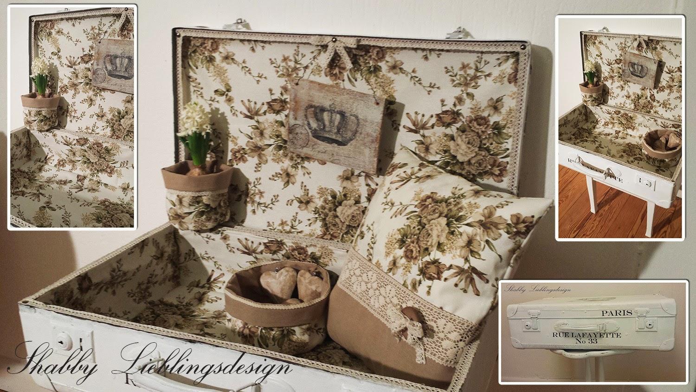 shabby lieblingsdesign alter koffer in neuem kleid. Black Bedroom Furniture Sets. Home Design Ideas