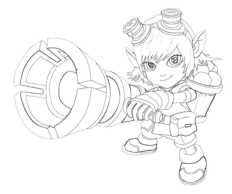 League of legends tristana armored temtodasas for League of legends coloring pages