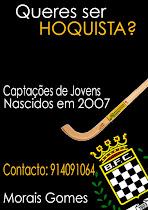 CAPTAÇÕES PARA JOVENS NASCIDOS EM 2007, PARA COMPLETAR EQUIPA PARA A PRÓXIMA ÉPOCA