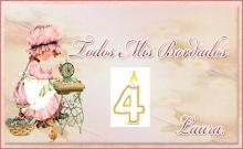 Sorteo 4º Aniversario Blog Todos mis bordados