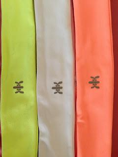 Style Athletics Neon Kyodan Headband Yellow White Orange