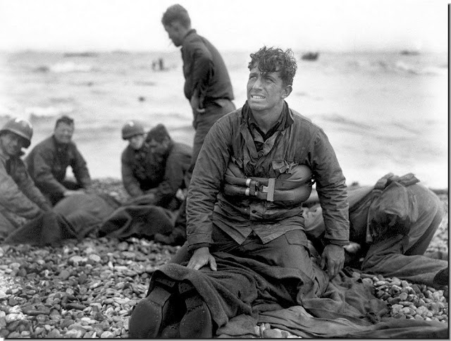 Omaha Beach. American casualties