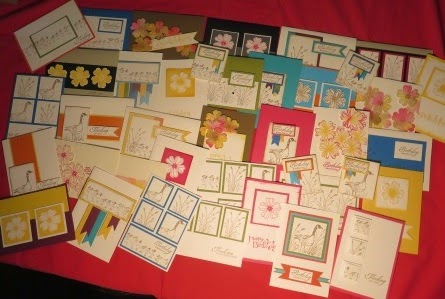 Cards made so far by zena kennedy independant stampin up demonstrator for let's start at the very beginning