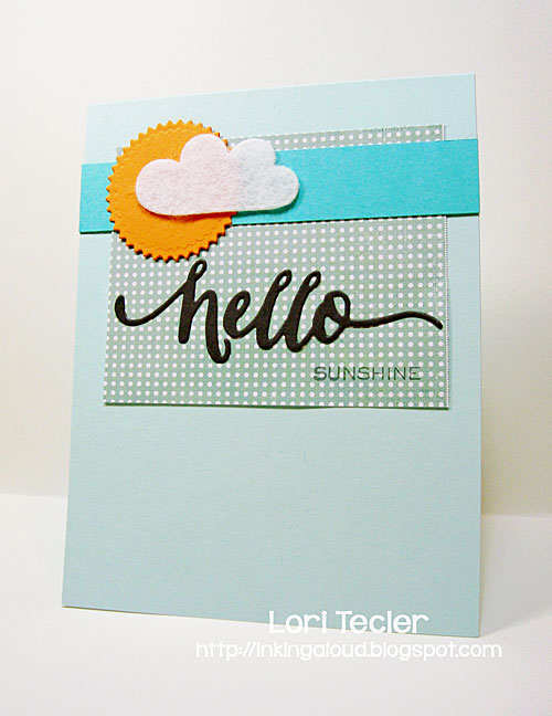 Hello Sunshine card-designed by Lori Tecler/Inking Aloud
