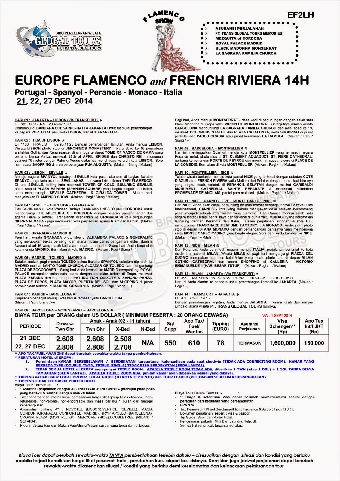 EUROPE FLAMENCO AND FRENCH RIVIERA