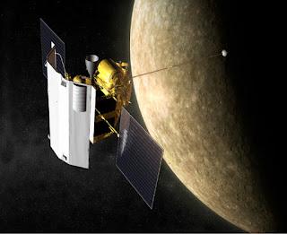 புதன் கிரகத்தில் தண்ணீர் ஐஸ் ஆக உறைந்துள்ளது: நாசா கண்டுபிடிப்பு Messenger+and+Mercury