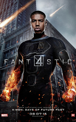 Fantastic Four Character Movie Poster Set - Michael B. Jordan as Johnny Storm / The Human Torch